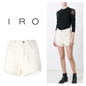 NWT // IRO Kania Frayed Shorts